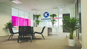 Le hall d'accueil de Keosys